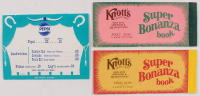 Lot of (3) Knotts Berry Farm Items with (2) Ticket Booklets & (1) Concession Songbook at PristineAuction.com