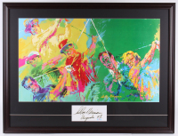"LeRoy Neiman Signed ""Jack Nicklaus, Arnold Palmer, Ben Hogan & Sam Snead"" 28.5x37.5 Custom Framed Cut Display Inscribed ""Augusta 93"" (PSA COA) at PristineAuction.com"