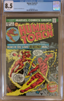 "1974 ""The Human Torch"" Issue #1 Marvel Comic Book (CGC 8.5) at PristineAuction.com"