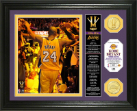 "Kobe Bryant Lakers ""Final Season"" 13x16 Custom Framed LE Highland Mint Bronze Coin Display at PristineAuction.com"