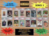 Icon Authentic 300x Series 3 Mystery Box (300+ Cards per Box) at PristineAuction.com