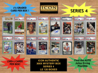Icon Authentic 300x Series 4 Mystery Box (300+ Cards per Box) at PristineAuction.com
