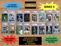 Icon Authentic 300x Series 5 Mystery Box (300+ Cards per Box) at PristineAuction.com