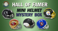 Schwartz Sports Football Hall of Famer Signed Mini Helmet Mystery Box – Series 7 (Limited to 100) at PristineAuction.com