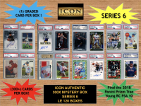 Icon Authentic 300x Series 6 Mystery Box (300+ Cards per Box) at PristineAuction.com