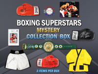 Schwartz Sports Boxing Collection Mystery Box - Series 5 (Limited to 100) (3 Boxing Autographs Per Box) *Floyd Mayweather Jr. Signed Championship Belt Redemption* at PristineAuction.com