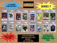 Icon Authentic 300x Series 7 Mystery Box (300+ Cards per Box) at PristineAuction.com