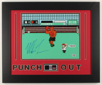 "Mike Tyson Signed ""Punch-Out!!"" 19.5x23.5 Custom Framed Photo Display with Nintendo Controller Photo (Fiterman Hologram) at PristineAuction.com"