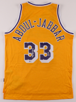 "Kareem Abdul-Jabbar Signed Lakers Jersey Inscribed ""HOF '95"" (Beckett COA) at PristineAuction.com"