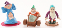 "Lot of (3) ""Snow White & the Seven Dwarfs"" Walt Disney Figurines with Dopey & Sneezy, Sleepy & Doc with Rolling Diamond Cart at PristineAuction.com"