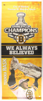 "Tuukka Rask Signed Bruins ""2011 Stanley Cup Champions"" 24x59 Banner Inscribed ""2011 Stanley Cup Champs"" (Rask COA) at PristineAuction.com"
