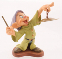 "Walt Disney's ""Snow White & The Seven Dwarfs"" Dopey Classics Collections Ceramic Sculpture Figurine with Mini Gold Cymbal at PristineAuction.com"
