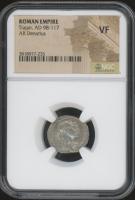 AD 98-117 - Trajan - Original Roman Empire Coin (NGC VF) at PristineAuction.com