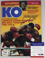 Lennox Lewis Signed 1993 Knockout Boxing Magazine (PSA COA) at PristineAuction.com