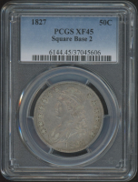 1827 50¢ Capped Bust Half-Dollar - Square Base 2 (PCGS XF 45) at PristineAuction.com