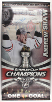 """Andrew Shaw Signed Blackhawks """"2013 Stanley Cup Champions"""" 27x45 Banner (Shaw COA) at PristineAuction.com"""