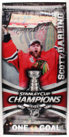 "Scott Darling Signed Blackhawks ""2013 Stanley Cup Champions"" 27x45 Banner (Darling COA) at PristineAuction.com"