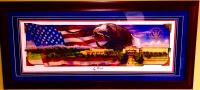 George H.W. Bush Signed 20x44 Custom Framed LE Lithograph (JSA LOA) at PristineAuction.com