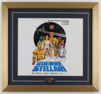 """Star Wars"" 17x18.5 Custom Framed Print Display with Star Wars Original 1977 Pin at PristineAuction.com"