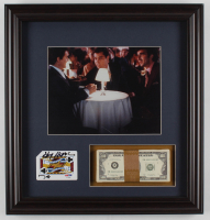 "Henry Hill Signed ""Goodfellas"" 16.5x17.5 Custom Framed Playing Card Display with Prop Money (PSA COA) at PristineAuction.com"
