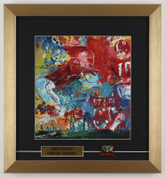 "LeRoy Neiman ""Alabama Crimson Tide with Coach Bear Bryant"" 15.5x16.5 Custom Framed Print Display with Alabama Pin at PristineAuction.com"