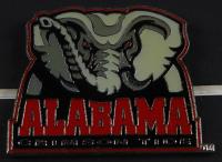"LeRoy Neiman ""Alabama Crimson Tide with Coach Bear Bryant"" 15.5x16.5 Custom Framed Print Display with Alabama Pin at PristineAuction.com"