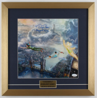 "Margaret Kerry Signed ""Peter Pan"" 17.5x17.5 Custom Framed Print Display Inscribed ""Tinker Bell"" (JSA COA) at PristineAuction.com"