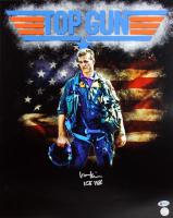"Val Kilmer Signed ""Top Gun"" 16x20 Photo Inscribed ""ICE 1986"" (Beckett COA & Kilmer Hologram) at PristineAuction.com"