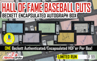 Hall of Fame Baseball Cuts – Beckett Encapsulated Autograph Mystery Box at PristineAuction.com