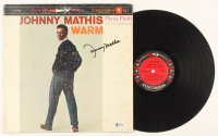 "Johnny Mathis Signed ""Warm"" Vinyl Record Album (Beckett COA) at PristineAuction.com"