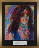 "LeRoy Neiman Signed Vintage ""Howard Stern"" 24x29 Custom Framed Print Display Inscribed ""03"" (PSA COA) at PristineAuction.com"