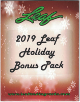 2019 Leaf Holiday Bonus Pack Mystery Pack at PristineAuction.com