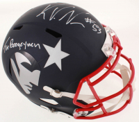 "Kyle Van Noy Signed Patriots Full-Size AMP Alternate Speed Helmet Inscribed ""The Boogeyman"" (PSA COA) at PristineAuction.com"
