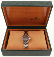 Ladies Rolex Oyster Perpetual Date Stainless Steel Wristwatch with Box (UGL Appraisal) at PristineAuction.com