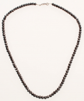 Black Diamond Faceted Bead Neckalce (UGL Appraisal) at PristineAuction.com