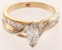14kt Yellow & White Gold Marquise Brilliant Diamond Engagement Ring (UGL Appraisal) at PristineAuction.com