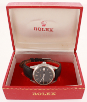 Men's Rolex OysterDate Stainlees Steel Wristwatch with Box (UGL Appraisal) at PristineAuction.com