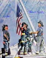 "Thomas E. Franklin Signed ""Raising the Flag at Ground Zero"" 16x20 Photo Inscribed ""9/11/2001"" (PSA COA) at PristineAuction.com"