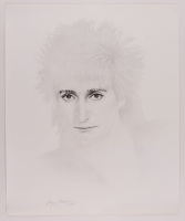 Rod Stewart 20x24 Gary Saderup Pencil Sketch Lithograph at PristineAuction.com