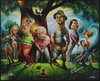 "Chevy Chase Signed ""Caddyshack"" 16x20 Lithograph (Beckett COA) at PristineAuction.com"