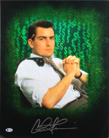 """Charlie Sheen Signed """"Wall Street"""" 16x20 Photo (Beckett COA) at PristineAuction.com"""