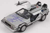 "Christopher Lloyd Signed ""Back to the Future II"" DeLorean Time Machine 1:24 Scale Die-Cast Car (Beckett COA) at PristineAuction.com"