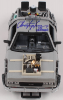 """Christopher Lloyd Signed """"Back to the Future III"""" DeLorean Time Machine 1:24 Scale Die-Cast Car (Beckett COA) at PristineAuction.com"""