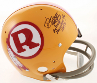 Sonny Jurgensen Signed Redskins Full-Size Throwback Suspension Helmet With (4) Inscriptions (Beckett COA) at PristineAuction.com