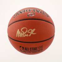 Magic Johnson Signed Official 2018 All-Star Game Basketball (Beckett COA) at PristineAuction.com