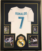 Christiano Ronaldo Signed 35x43 Custom Framed Jersey Display (Beckett COA) at PristineAuction.com
