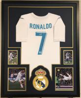 Christiano Ronaldo Signed 35x43 Custom Framed Jersey Display (Beckett COA) at PristineAuction.com