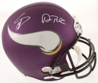 Stefon Diggs & Adam Thielen Signed Vikings Matte Purple Full-Size Helmet (TSE COA) at PristineAuction.com