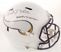 "Adam Thielen Signed Vikings Matte White Full-Size Speed Helmet Inscribed ""Undrafted to Unstoppable"" (TSE COA) at PristineAuction.com"