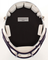 """Adam Thielen Signed Vikings Matte White Full-Size Speed Helmet Inscribed """"Undrafted to Unstoppable"""" (TSE COA) at PristineAuction.com"""
